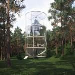 ARCHI : La canopée depuis une tour de verre