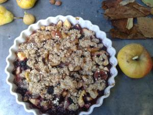 crumble fruits automne