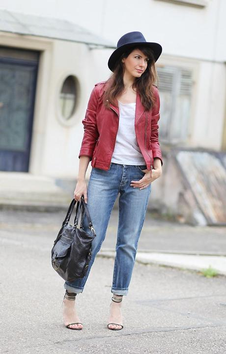 blouson cuir rouge1 September 13