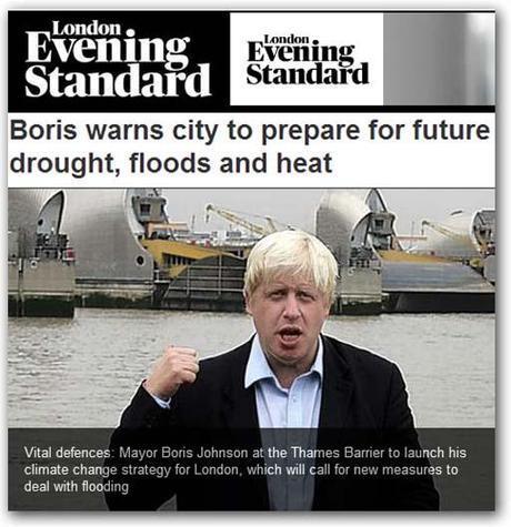 Climat : le maire de Londres Boris Johnson retourne sa veste
