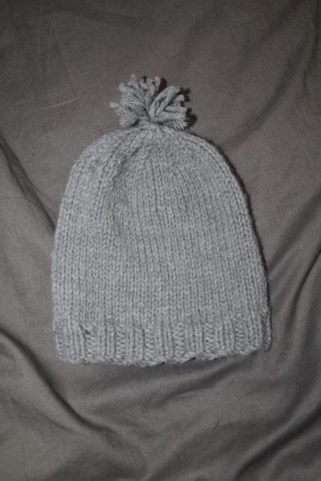 bonnet tricoté au point Jersey