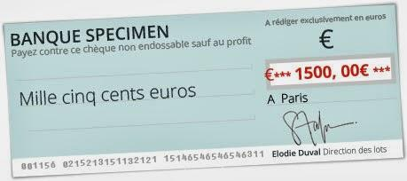 gagner un cheque