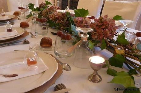 Table d'automne comme une balade dans les bois / Autumn table like a walk in the forest