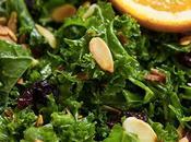 Salade kale l'orange cranberries