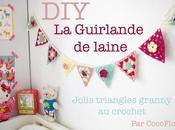 Guirlande triangles granny crochet pour chambre d'enfant