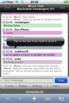 minou chat iphone