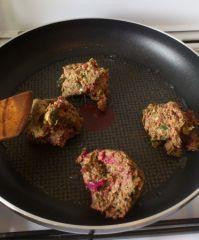 Galettes vertes - début de la cuisson