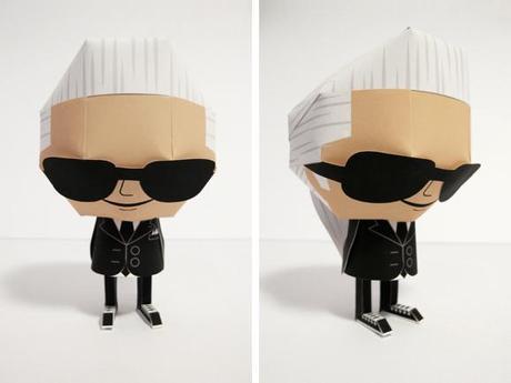 Exposition :  Paper Toy Mania, Karl Lagerfeld x Shin Tanaka