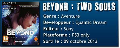 TECH B2S [TEST] Beyond : Two Souls