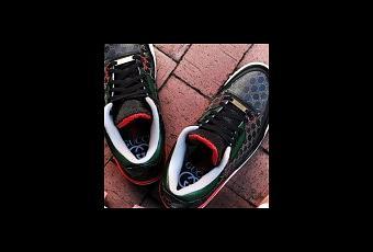 "c37fc8866d1 Air Jordan 3 ""Gucci"" par Dank Customs   Absolelute - Paperblog"
