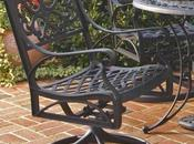 Home Style 5554-53 Biscayne Rocking/Swivel Outdoor Chair, Black Finish