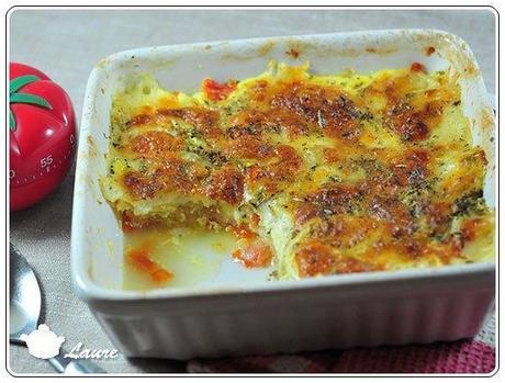 Gratin courgette et mozzarella