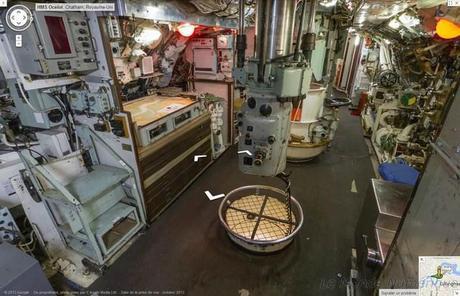 Visitez l'intérieur d'un sous-marin avec Google Street View