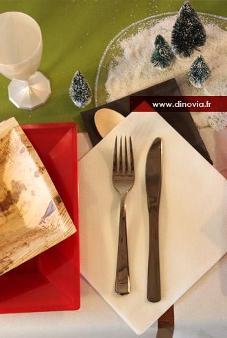 decoration de table noel vert rouge