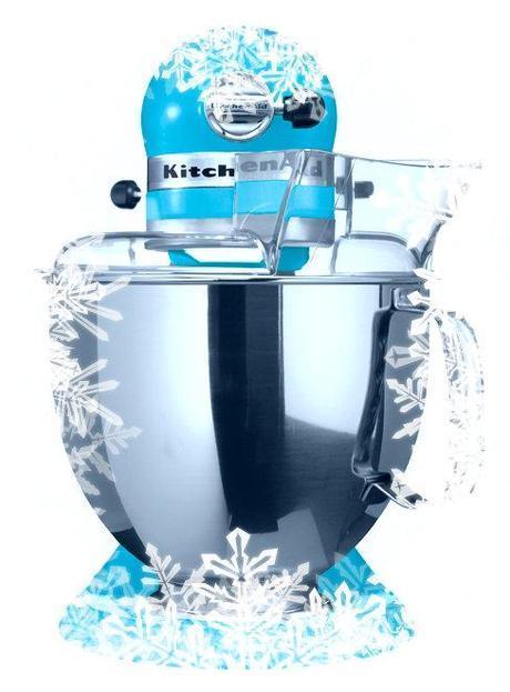 kitchen aid bleu lagon- vue de face - Noel