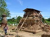 ancien monastère enterré sous tombeau d'un Thaï