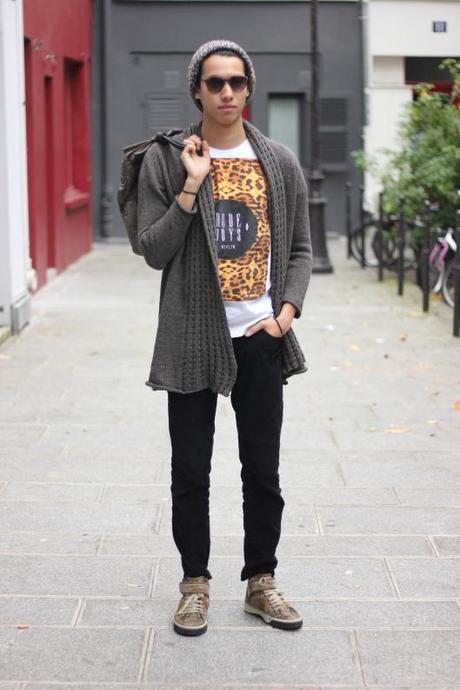 look homme leopard