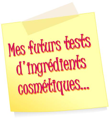 tests ingrédients cosmétiques
