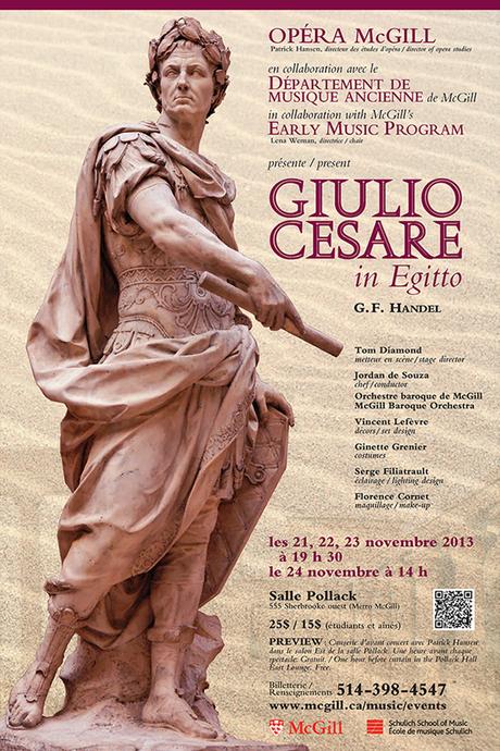 Giulio Cesare de Händel par Opera McGill, un hommage à Benjamin Britten à la Fondation Arte Musica et une « excellente » Lakmé de Marie-Ève Munger à l'Opéra de Saint-Étienne