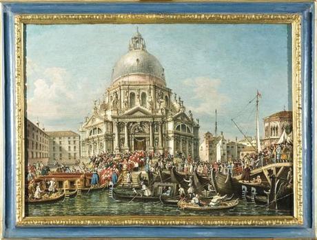 La festa della Madonna della Salute a Venezia Par Francesco Zanin (1835 - 1893)