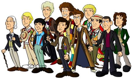 the 11 doctors DOCTOR WHO│ LA CABINE FÊTE SES 50 ANS