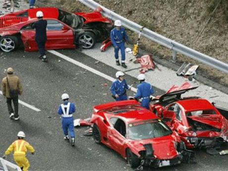 3 millions d'€ ! L'accident le plus cher du monde !