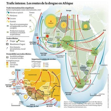 les routes de la drogue en Afrique