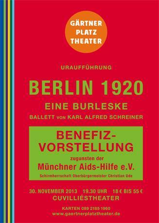 La danse contre le sida: soirée de gala du Theater-am-Gärtnerplatz au Théâtre Cuvilliés