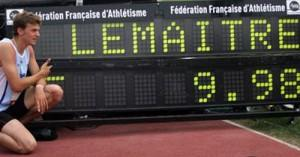 christophe lemaitre record france 9.98 secondes