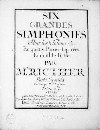 Franz Xaver Richter Six Grandes Simphonies 1744 parte secon
