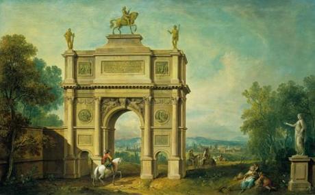 Antonio Visentini Paysage avec un arc de triomphe à George