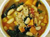 Soupe quinoa, kale haricots blancs