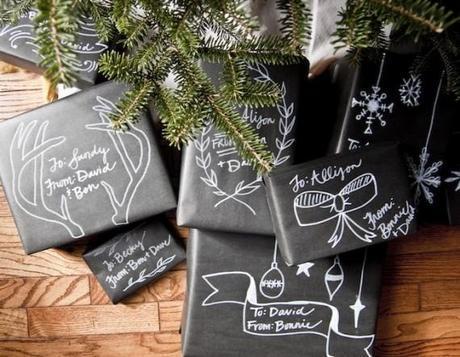 black paper gift wrap