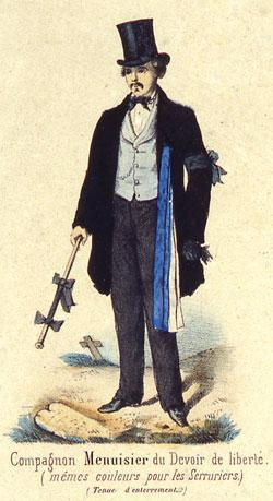 Recherche sur un élément de l'histoire compagnonnique: l'évocation du département de l'Eure-et-Loir dans les Mémoires d'un compagnon d'Agricol Perdiguier.
