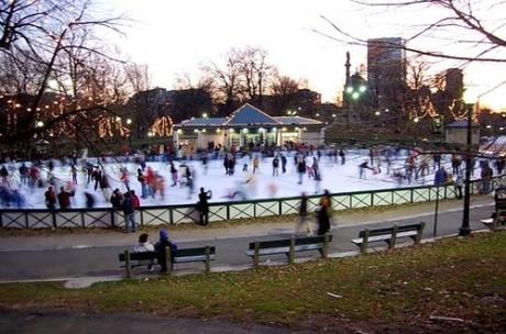 Boston Common Frog Pond Ice Skating e1321544180240 Amazing Outdoor Ice Skating Rinks