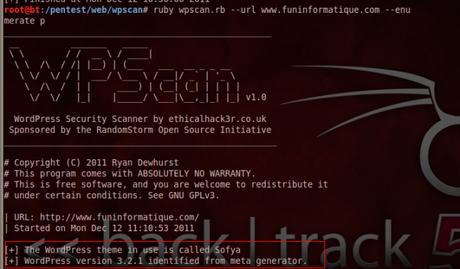 plugin WPScan : Détecter les vulnérabilités d'un site WordPress
