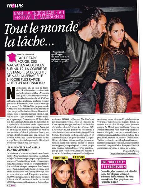 Nabilla, Serge le Lama, Brahim, Emilie, Kim Kardashian, la presse people en vrac !