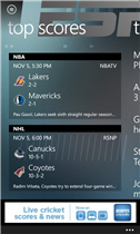 ESPN maintenant disponible sur tous les Windows Phone 8