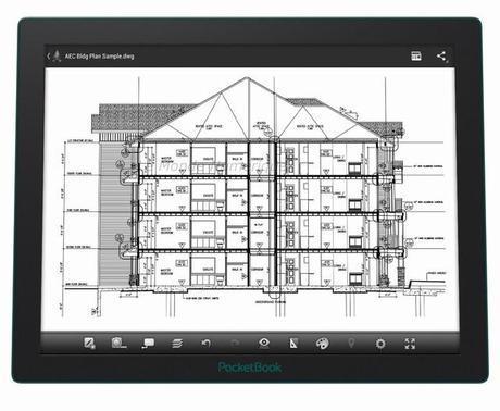 La tablette PocketBook CAD Reader avec technologie E Ink Fina