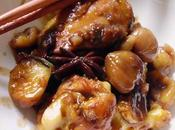 Poulet mijoté marrons lìzi