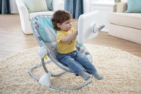 ipad tablette transat bebe enfant chaise fisher price geek