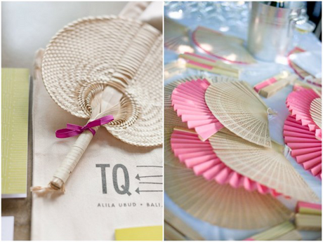 summer wedding fan favors 10 Chic Ideas For A Summer Wedding Theme