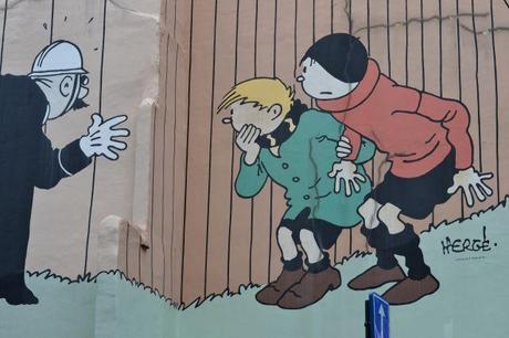 Murs peints Bruxelles Hergé