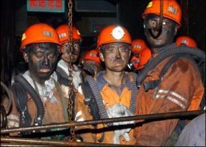 Chine charbon mineurs