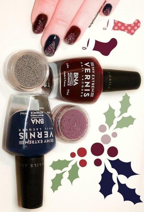 caviar manucure, nail art, caviar, vernis, beautynails, BNA, noel