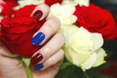 beautynails, nail art, BNA, rouge, bleu