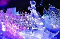 Festival de Sculpture de Glace et de Neige Bruges 2013 : La Reine des Neiges - Anna