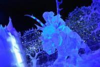 Festival de Sculpture de Glace et de Neige Bruges 2013 : La Reine des Neiges - Kristoff et Sven