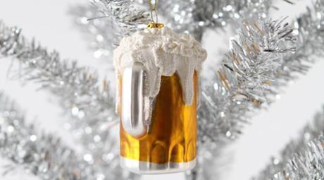 Pinte de bière en déco de Noël