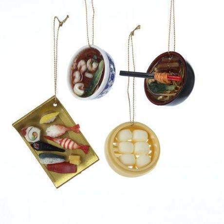 Asian Food Christmas Ornaments